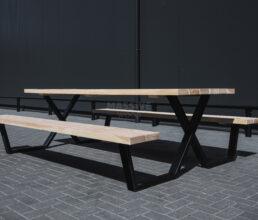 Picknick Tafel X-Frame staal