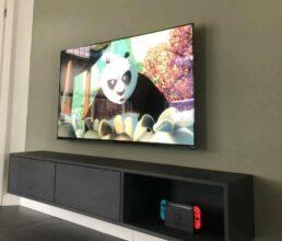 Massive Wood - Eiken tv meubel zwevend QUINN 2 met open vak