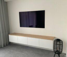 Eiken plank voor Ikea besta